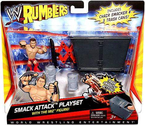 WWE Wrestling Rumblers Series 1 Smack Attack Mini Figure Playset [With The Miz]](Rock Smack)