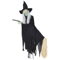 Animated Lifesize Flying Witch Deals