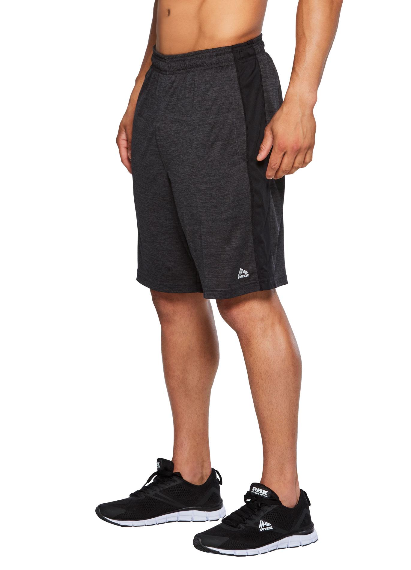 RBX Active Men's Double Dye Blocked Shorts w/Pockets