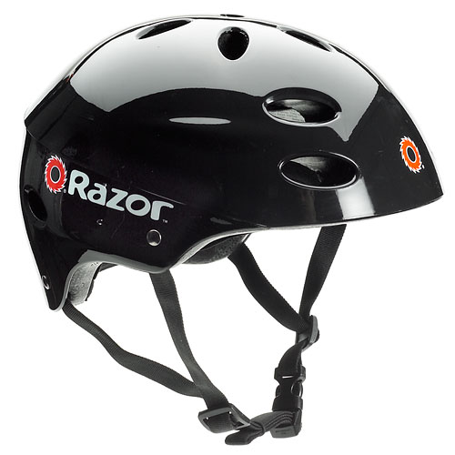 Razor V17 Youth Helmet, Gloss Black