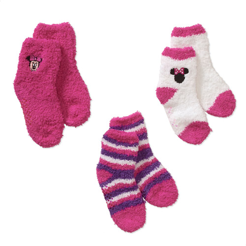 Minnie Mouse Baby Toddler Girl Socks, 3-Pack