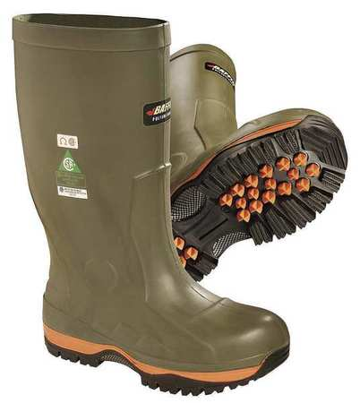 Baffin Size 13 Composite Toe Pac Winter Boots, Men's, Forest Green/Orange,Black, 51570000