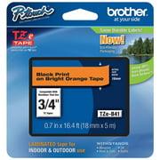 Brother Label Tape Cartridge, Label Type Indoor/Outdoor PET TZeB41