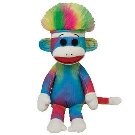 TY Beanie Baby - RAINBOW Sock Monkey (9.5 (Rainbow Monkey)
