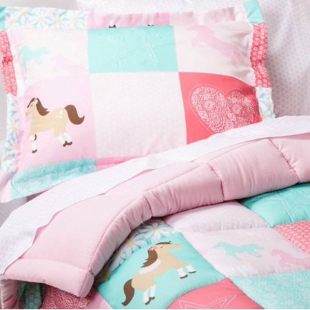 Circo full bed in a bag wild horses patchwork comforter for Wild bedding