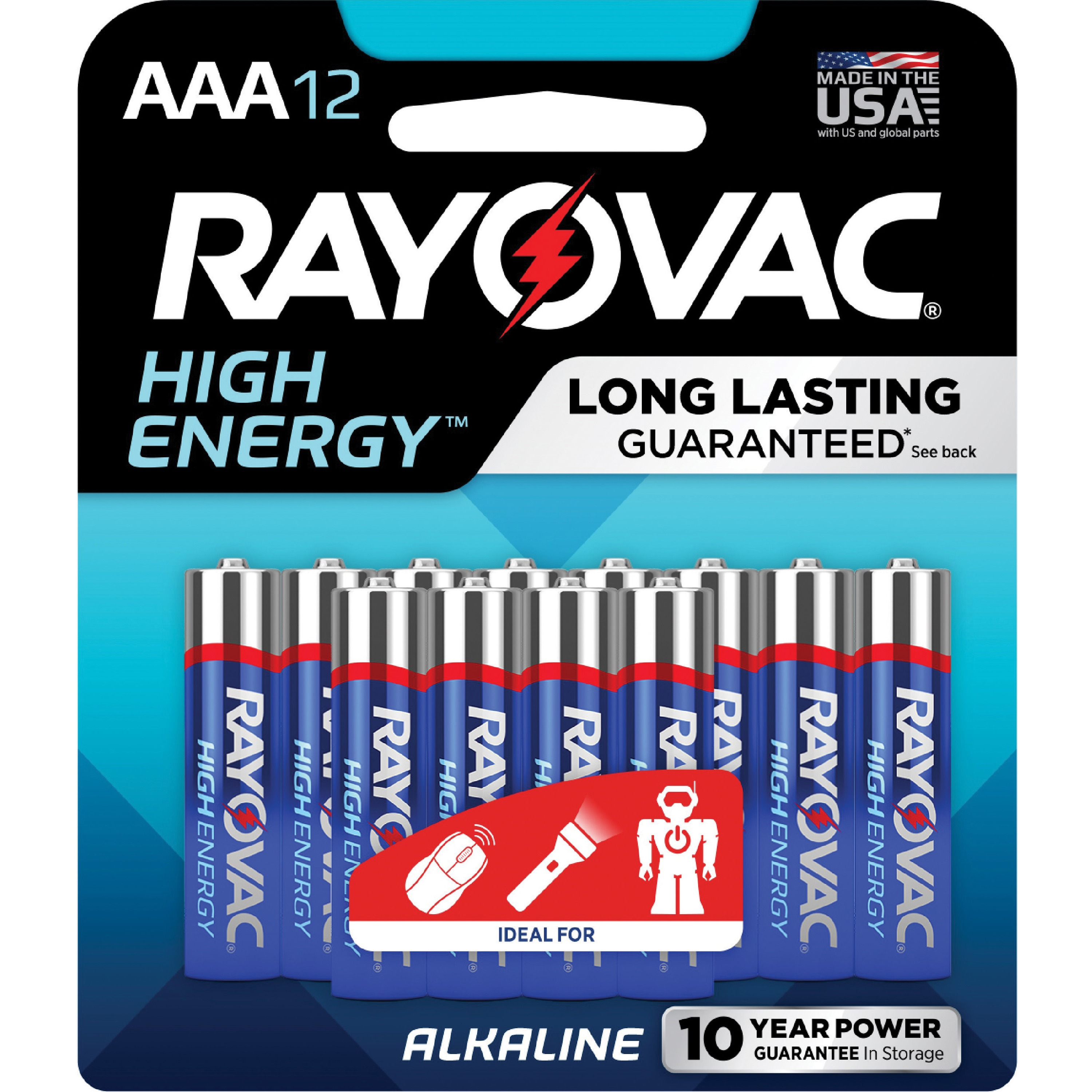 Rayovac Alkaline AAA Batteries, 12 ct