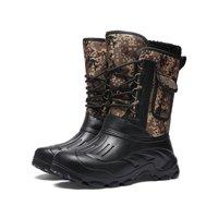 OwnShoe Snow Boot Waterproof Warm Fur Lined Rain Booties Outdoor Shoes for Men