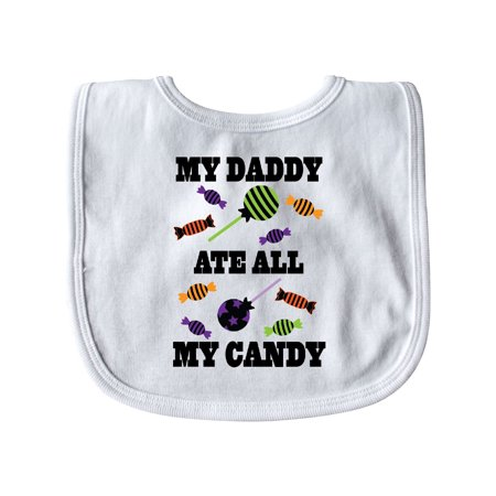 Halloween Funny Daddy Ate My Candy Baby Bib (Ate All Halloween Candy)