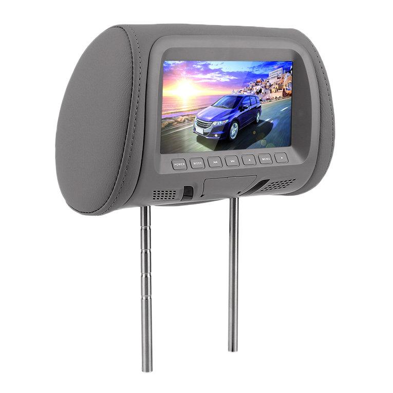 Car Display 2Pcs 7 Inch Car Pillow Monitor Car Headrest Tv Monitors With Remote Control