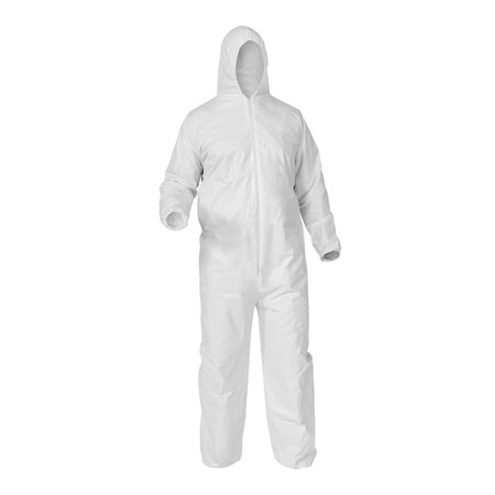 - 25pcs Protective Disposable Coveralls w/ Hood Size: Large