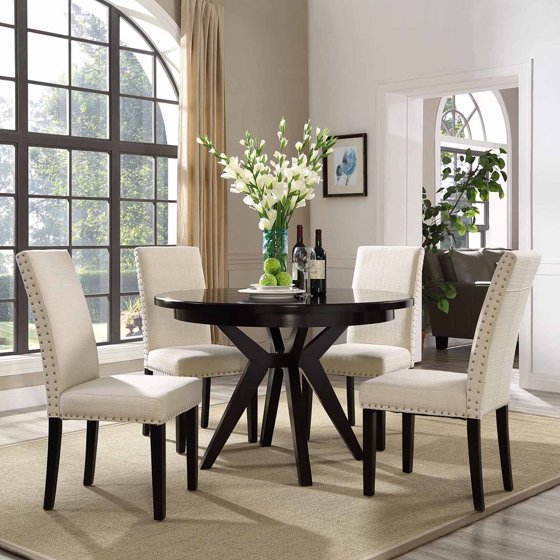 Handmade Kitchen Living Dining Room Remodel By Northwind: Modway Parcel Upholstered Dining Side Chair, Multiple