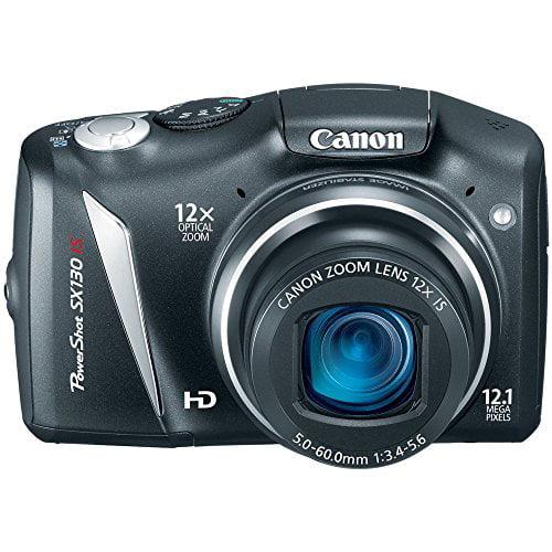 "Canon PowerShot SX130-IS Black 12.1MP Digital Camera w/ 12x Optical Zoom, 3.0"" LCD Display"