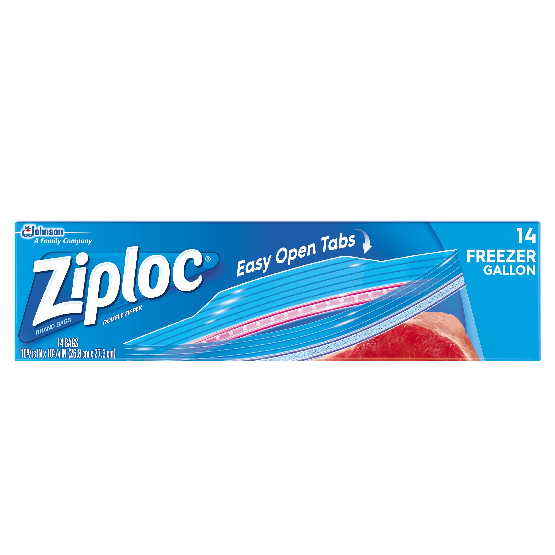 Ziploc Pinch & Seal Freezer Bags, Gallon, 14 Count