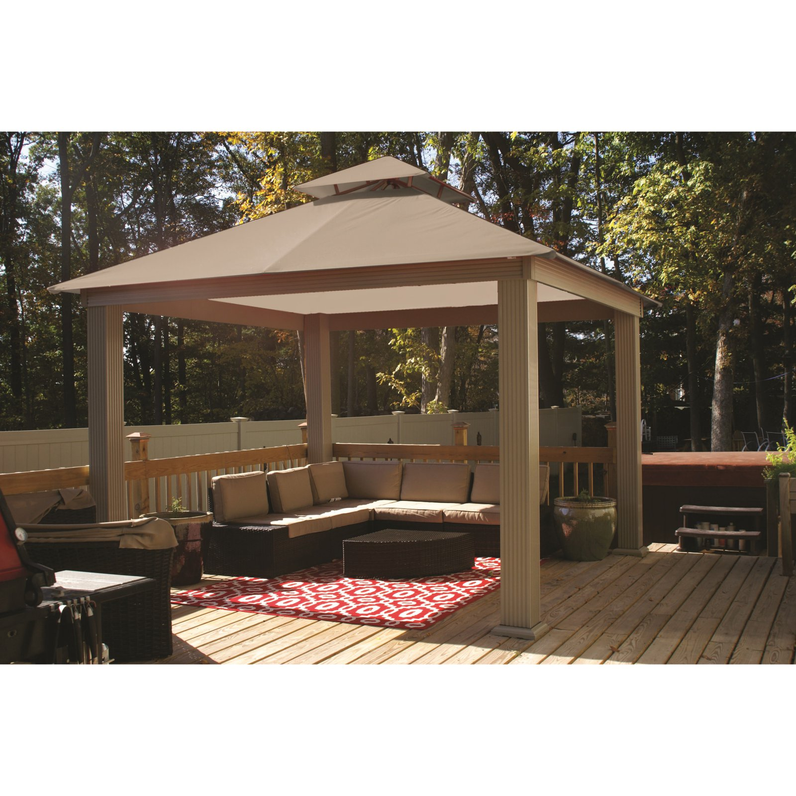 ACACIA by Riverstone Industries Square Gazebo Canopy