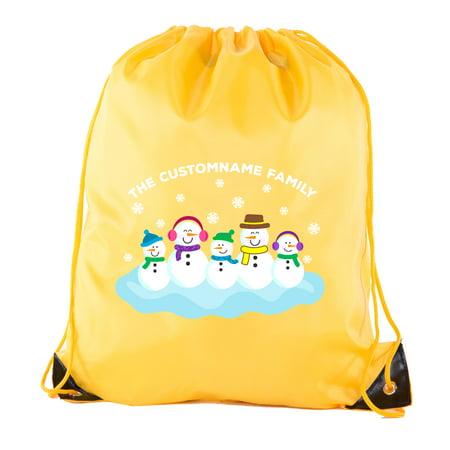 Custom Favor Bags (Snowman Family with custom name-Family Reunion Party Favor)