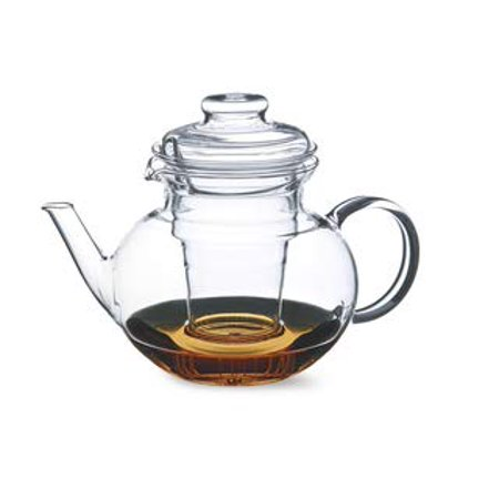Simax Glassware 1 Quart Teapot with Glass Infuser | Microwave and Stovetop Safe, Heat, Cold, and Thermal Shock Resistant Borosilicate Glass, Makes a Stunning Presentation (Microwave Glass Teapot)