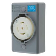 HUBBELL WIRING DEVICE-KELLEMS HBL2810SR Locking Receptacle,Industrial,30,Gray