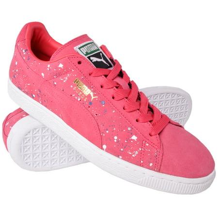 PUMA - Puma Suede Classic Sneaker Suede Shoe Paint Splatter Teaberry Pink  358288 Mens - Walmart.com fc4c65158