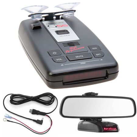 Escort Passport S55 Radar Laser Detector With Accessories Combo Bundle  Red  Includes Passport S55 Radar Laser Detector  Car Mirror Mount Bracket And Direct Wire Power Cord