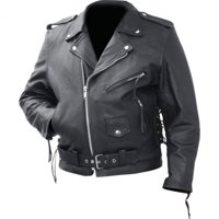 Rocky Mountain Hides Solid Genuine Cowhide Leather Classic Motorcycle Jacket