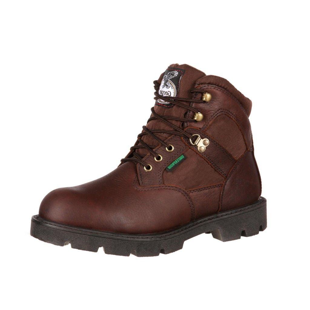 """Georgia Boot Work Mens 6"""" Homeland Waterproof Steel Toe Brown G105 by Georgia Boot"""
