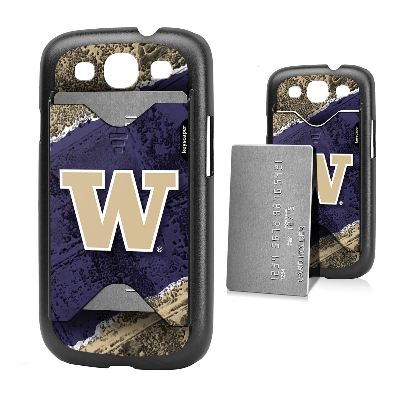 Washington Huskies Galaxy S3 Credit Card Case