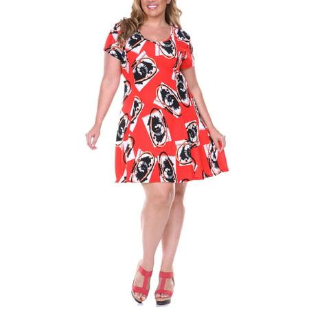 Women\'s Plus Size Fit & Flare Dress