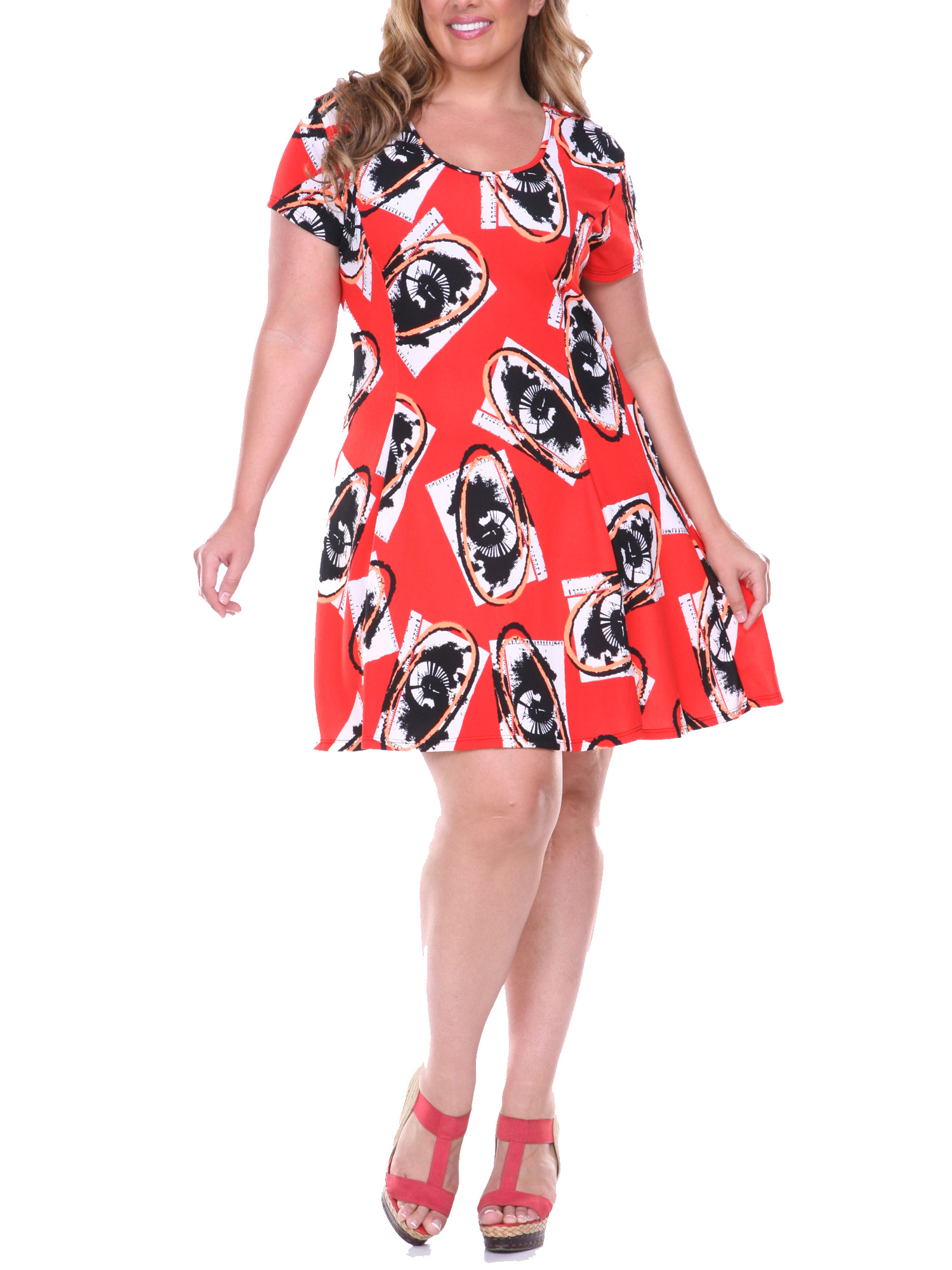 Women's Plus Size Fit & Flare Dress