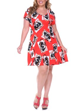 a67a95d5081fa8 Product Image Women s Plus Size Fit   Flare Dress