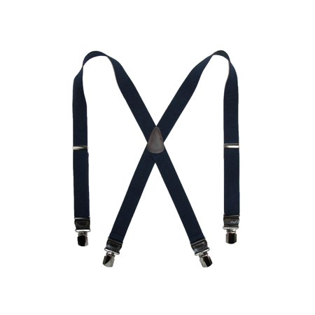 Floral Leather Suspenders - Size one size Men's Elastic Anti Slip Pin Clip Suspenders with Leather Drop Tabs
