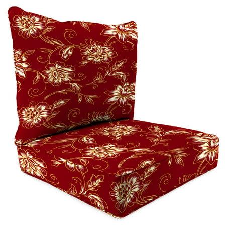 Jordan Manufacturing Mainstays Aubrey Floral Deep Seating Cushion Set ()