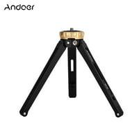 """Andoer MT-02 Mini Desktop Tripod Aluminum Alloy 1/4"""" Screw Max. Load 15kg/ 33lbs for DSLR Digital Video Camera DV"""