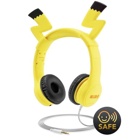 Mumba Kids Headphones with VoliBolt Ears, Wired Over-Ear Headphones with Music Sharing Function, 85dB Volume Limited Hearing Protection,Safe Food Grade Material, 3.5mm Jack (HS01) Headset for