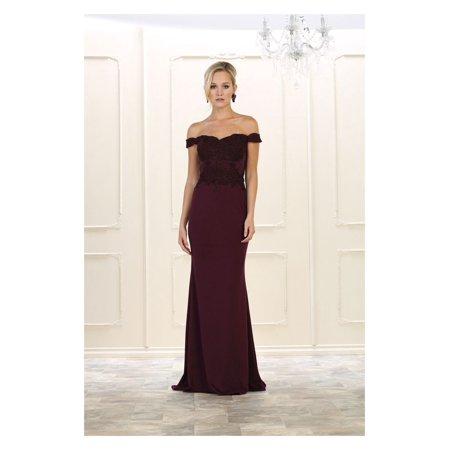 Long Simple Wedding Dress Plus Size Bridal Gown