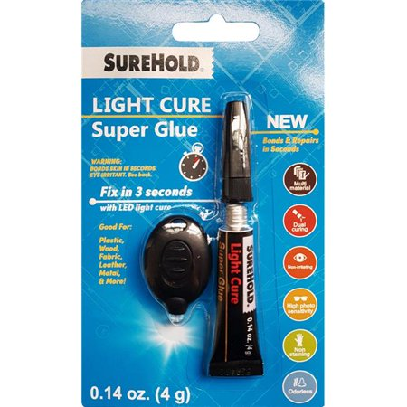 Surehold SH22051 4 g Light Cure Super Glue with (Cure Glue)