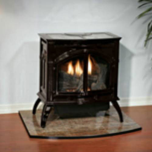 Heritage Cast Iron Porcelain Mahogany Stove VFD30CC70MN Natural Gas by