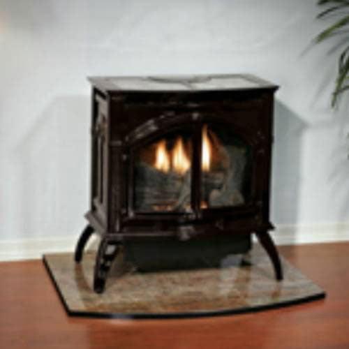 Heritage Cast Iron Porcelain Mahogany Stove VFD30CC70MN - Natural Gas
