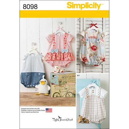 Simplicity Babies' Size XXS-L Pattern, 1 Each Baby Sewing Patterns