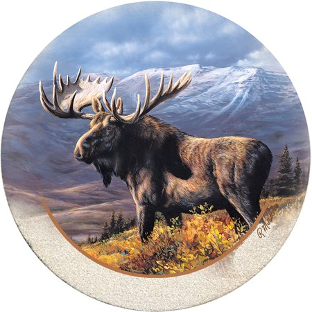 Thirstystone Drink Coasters Set, Cooper Moose
