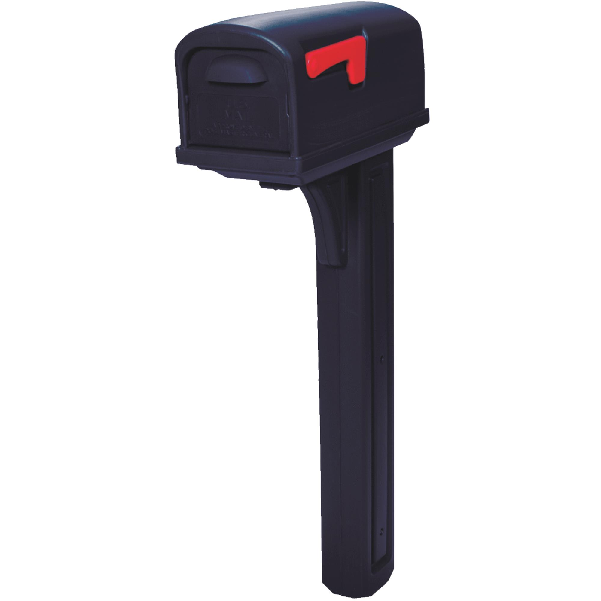 Gibraltar Mailboxes Classic Plastic Medium Residential Post Mount Mailbox, Black by Solar Group