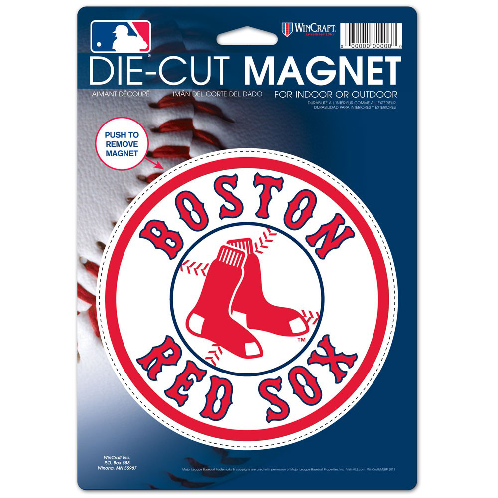 "Boston Red Sox WinCraft 6"" x 9"" Round Alternate Logo Car Magnet - No Size"
