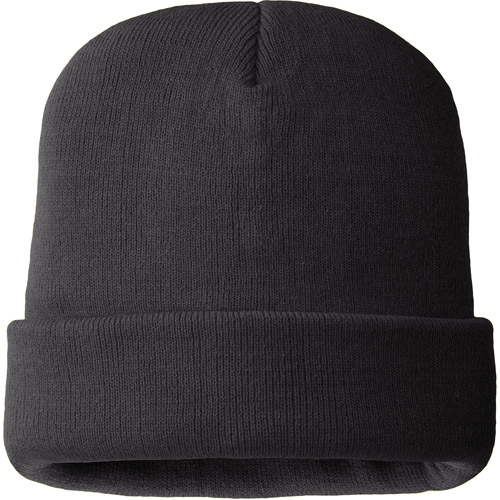 Hands On Mens 100% Acrylic Black Color Beanie Hat  40 gm Thinsulate Lined.