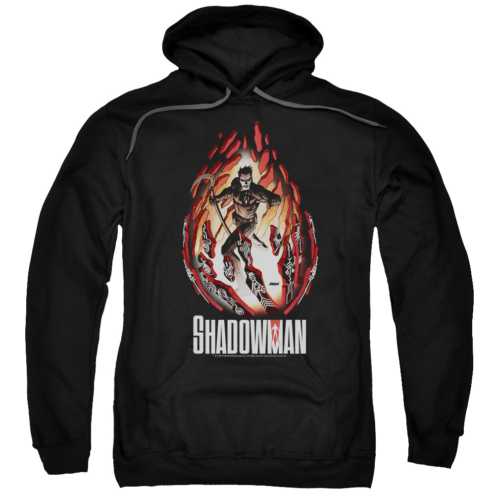 Shadowman/Burst Adult Pull Over Hoodie Black  Val162