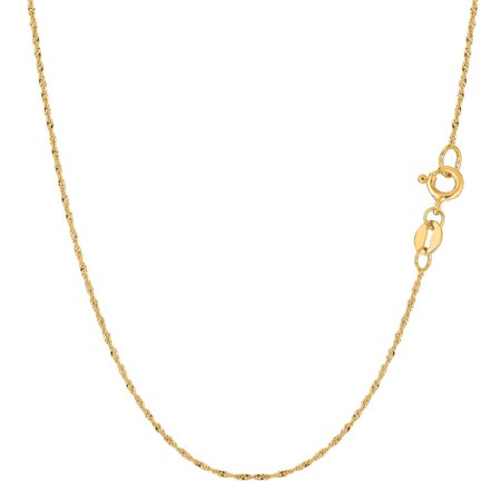 14K Yellow Gold 1MM Singapore Twisted Link Pendant Necklace Chains 16