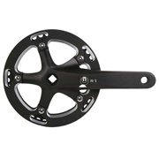 Eclypse, R1, Crankset, 1 sp., 170mm, 42T, BCD:130mm, Square, Black