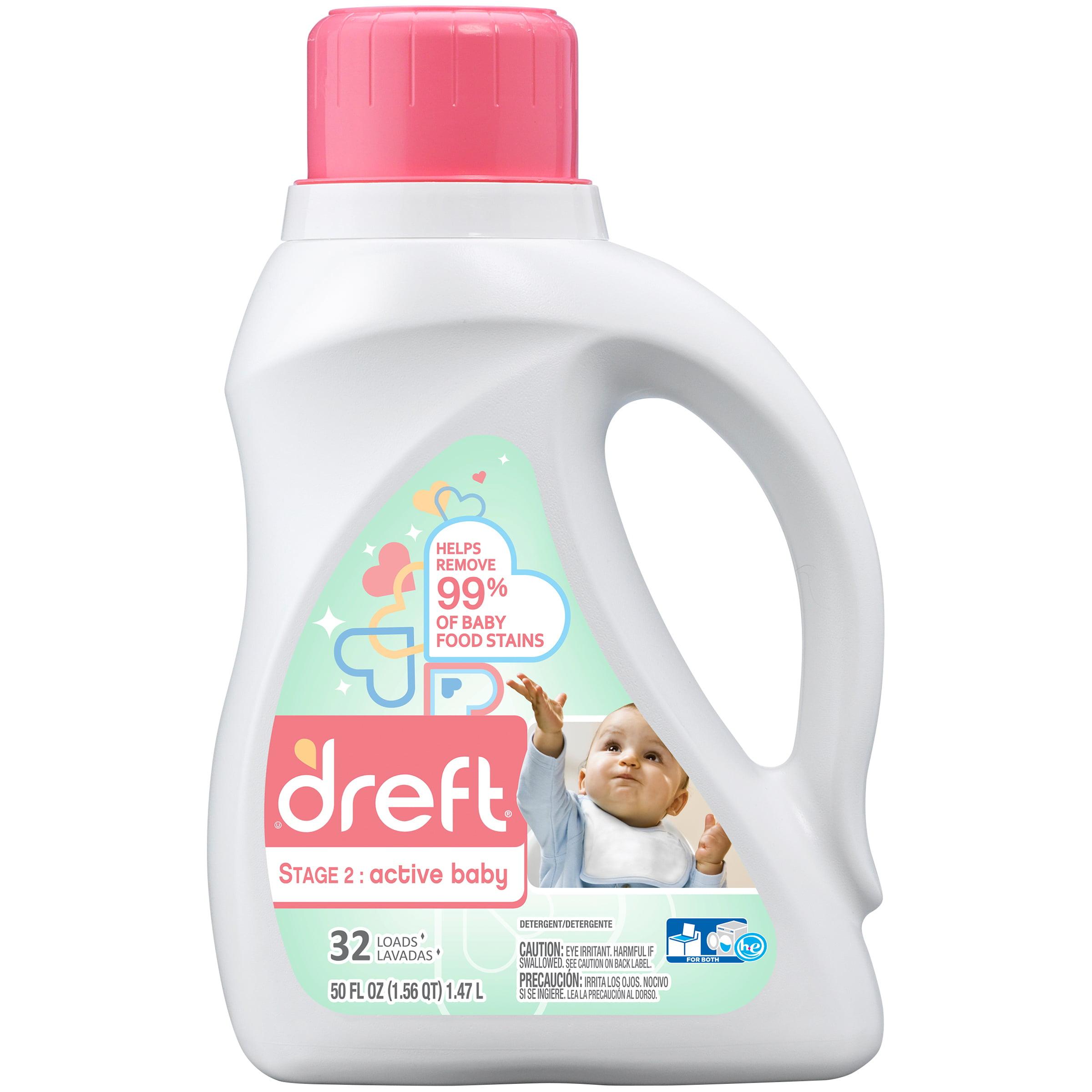 Dreft® Stage 2: Active Baby Liquid Laundry Detergent 50 fl. oz. Jug