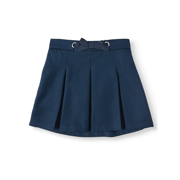 Wonder Nation Girls School Uniform Bow Scooter Skirt, Sizes 4-16 & Plus