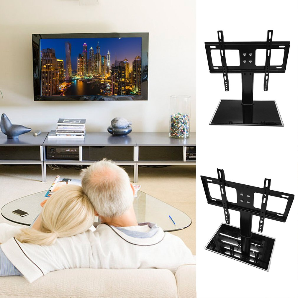 Universal TV Table Top Base Stand With Adjustable Swivel Mount Bracket For  26 To 32 Inch