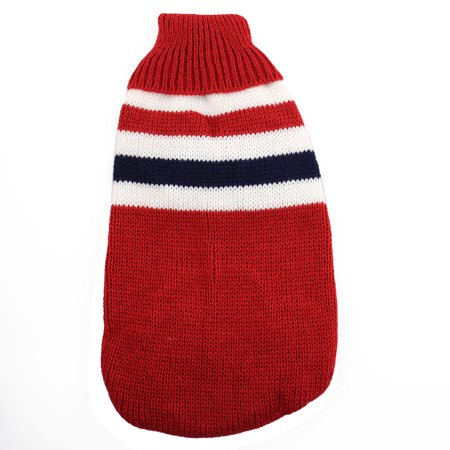 Pet Cat Woolen knitted Sweater Coat Clothes Apparel Jacket Costume Dark Red S (Costume Apparel)