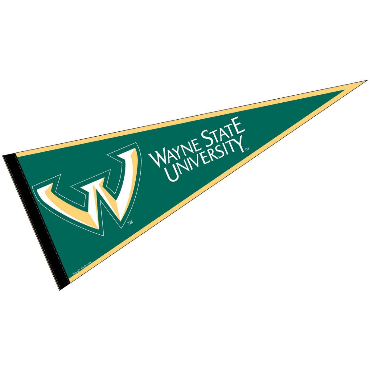 "Wayne State Warriors 12"" X 30"" Felt College Pennant"